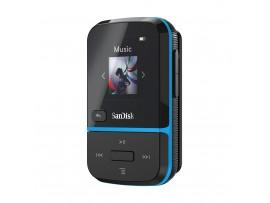 SanDisk Clip Sport Go 16GB Blue MP3 Player LCD screen FM RADIO Voice Recorder