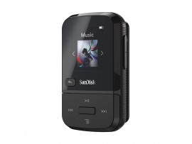SanDisk Clip Sport Go 16GB Black MP3 Player LCD screen FM RADIO Voice Recorder