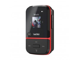 NEW SanDisk Clip Sport Go 16GB Red MP3 Player LCD screen FM RADIO Voice Recorder