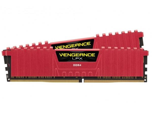 CORSAIR Vengeance LPX RED 16GB (2x8GB) DDR4 Memory RAM Kit CMK16GX4M2B3000C15R