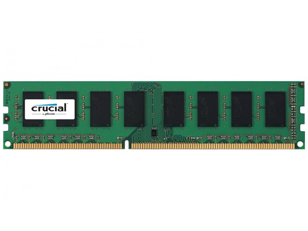Crucial DIMM 4GB DDR3 1600Mhz PC3-12800 CL11 CT51264BD160B Desktop RAM Memory