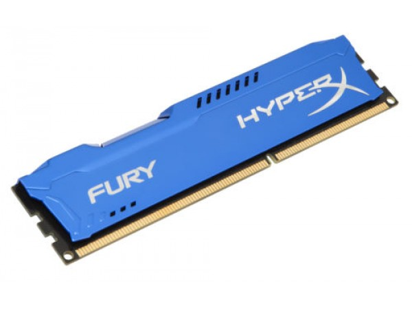Kingston DDR3 8GB 1600MHz CL10 Hyper-X Fury Blue Desktop Memory RAM HX316C10F/8