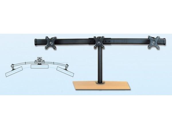 IPPON IPMA22301 Desk Triple Monitor Arm Bracket Display Tilt Vesa 75x75 100x100