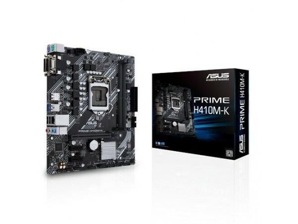 NEW ASUS PRIME H410M-K Motherboard CPU SOCKET LGA1200 Intel DDR4 DVI VGA USB 3.2