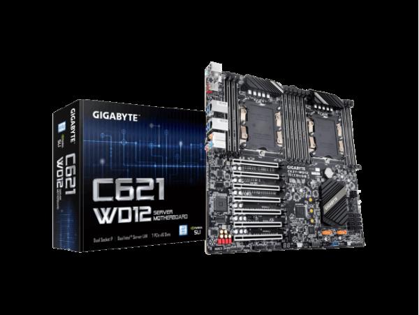 Gigabyte C621-WD12 Motherboard CPU Dual Xeon LGA3647 DDR4 DIMM Server GbE LAN