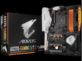 Gigabyte GA-AX370-Gaming 5 Motherboard CPU AM4 AMD Ryzen DDR4 USB 3.1 RGB LED