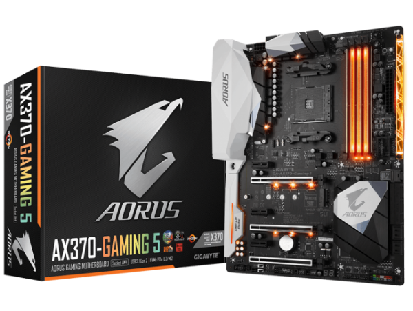Gigabyte GA-AX370-Gaming 5 Motherboard CPU AM4 AMD Ryzen DDR4 USB 3.1 RGB LED