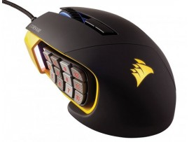 NEW Corsair Scimitar PRO RGB Optical MOBA/MMO Gaming Mouse Yellow Wired 16000DPI
