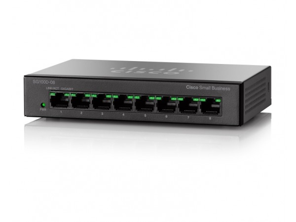 CISCO SG110D-08 Network SWITCH 8 Gigabit PORT 100/1000Mbps Ethernet LAN Desktop