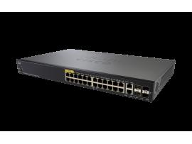 Cisco SG350-28P-K9-EU SWITCH 28-Port Managed Gigabit PoE 195W combo Gigabit SFP