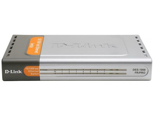 D-LINK DES-1008FR PRO Unmanaged Switch 8 Port 10/100Mbps BASE-FX SC 20KM FIBER