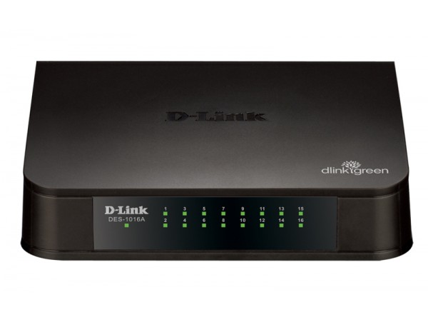 Brand NEW D-Link DES-1016A 16-Port LAN 10/100Mbps Fast Ethernet Switch SOHO