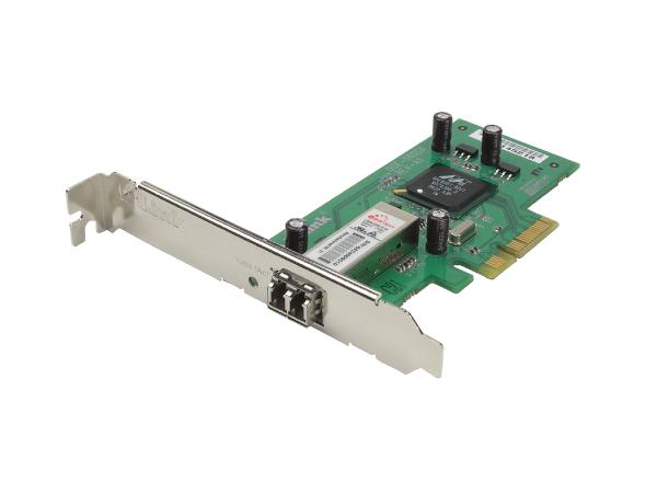 D-Link DGE-560SX Gigabit PCI‑Expressx4 1000BaseSX LC Adapter Full Duplex optical