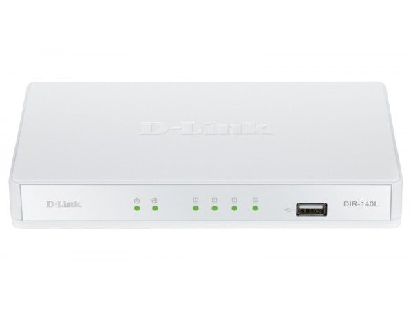D-Link DIR-140L Broadband SOHO Firewall VPN Cloud Router 4 Port LAN NAT USB COM