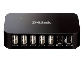 D-Link DUB-H7 External 7 ports USB 2.0 HUB Switch iPod/iPad/iPhone Fast Charging