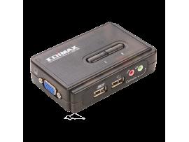 EDIMAX EK-UAK2 350MHz High Bandwidth 2 Ports USB KVM Switch VGA Keyboard Mouse