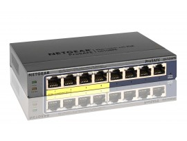 NEW NETGEAR GS108PE ProSafe Plus 8-Ports Gigabit Ethernet Switch PoE Web Managed