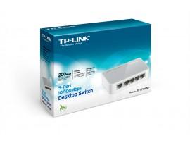 NEW TP-LINK TL-SF1005D 5 Port 10/100Mbps LAN RJ45 Desktop Switch Green Ethernet