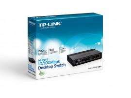 NEW TP-LINK TL-SF1016D 16-Port 10/100Mbps LAN RJ45 Desktop Switch Green Ethernet