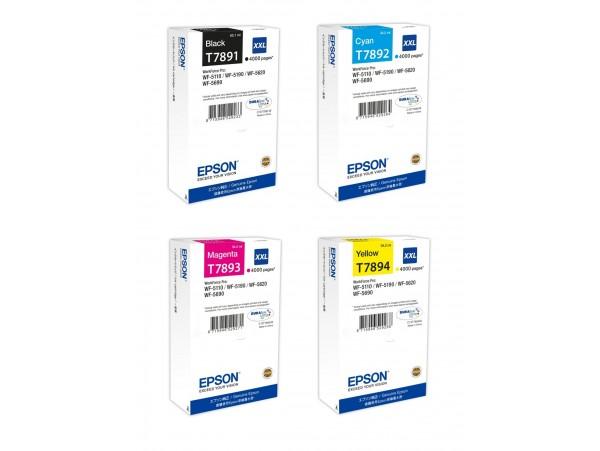 Genuine Epson T789 Combo 4 pack Ink Cartridge Black/Cyan/Magenta/Yellow Printer