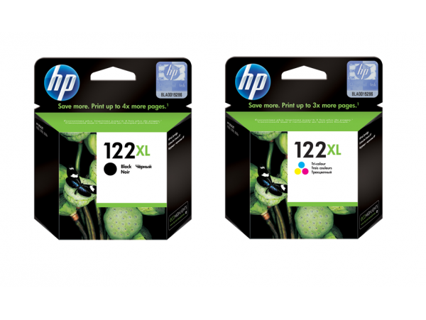 Genuine HP 122XL Black Tri-color Ink Cartridge Deskjet 1000 2000 3000 Printer