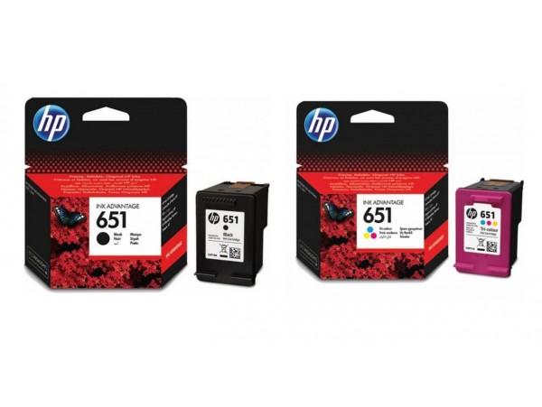 Genuine HP 2pack Ink Cartridge 651 Combo DeskJet 5575 OfficeJet 202 252 Printer