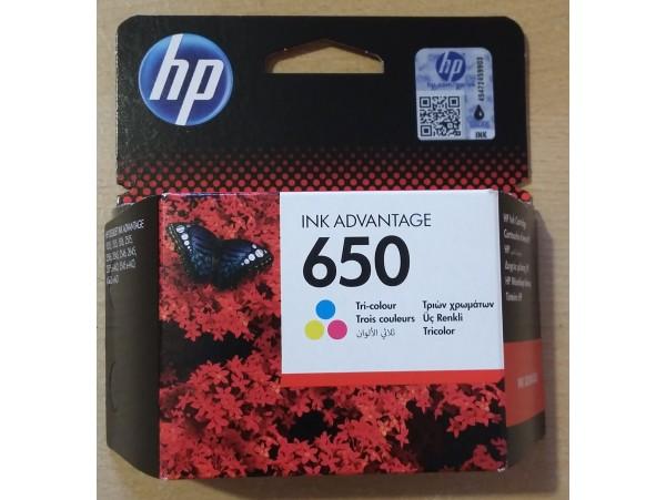 Genuine HP Ink Cartridge 650 Tri-color CZ102AE DeskJet 2545 2645 2515 Printer