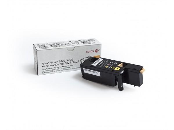 Genuine Xerox Phaser 6020/6022/6025/6027 Print Yellow Toner Cartridge 106R02762