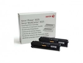 NEW Genuine Xerox Phaser 3020/3025 Dual Printer Black Toner Cartridge 106R03048
