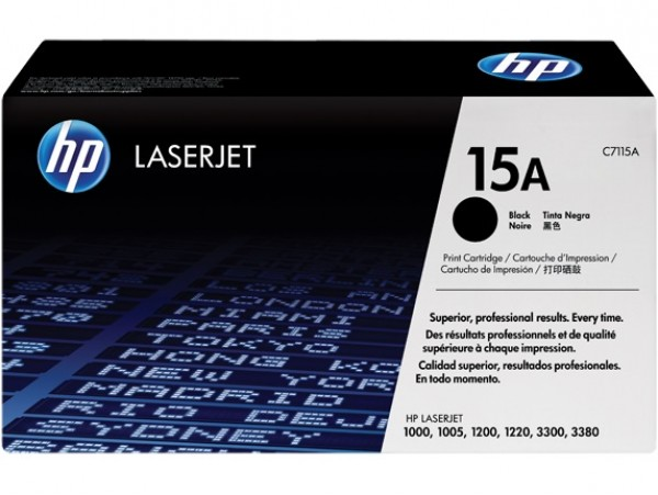Genuine HP 15A Black C7115A Toner Cartridge Printer 1005 1200 1220 3300 3330