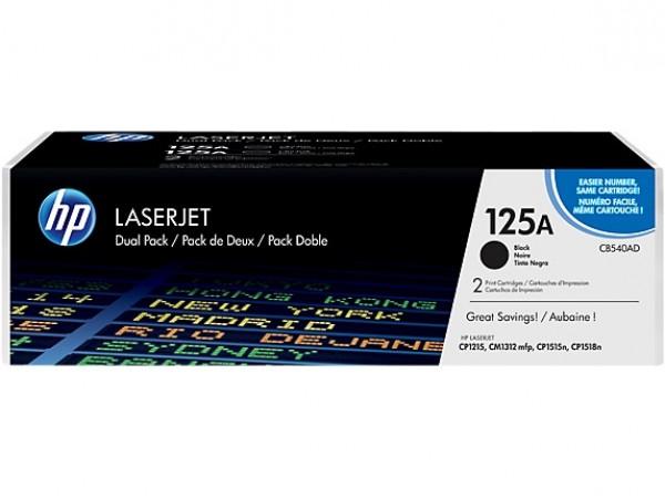 Genuine HP 125A 2pack Black CB540AD Toner Cartridge Printer CP1215 CP1515 CM1312