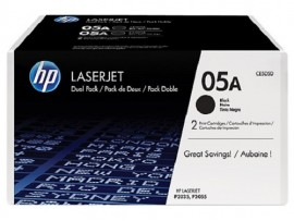 Genuine HP 05A 2-pack Black CE505D Toner Cartridge Printer LaserJet P2035 P2055