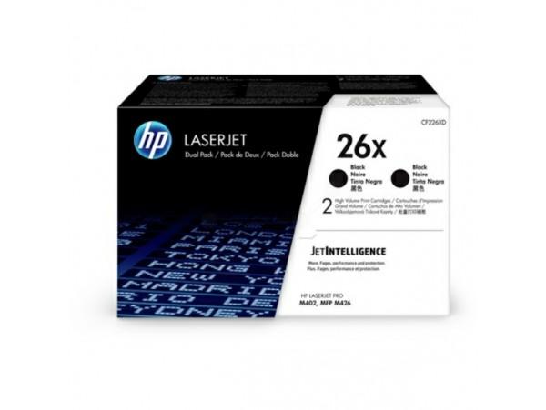 HP 2-pack High Yield 26X Black CF226XD Toner Cartridge LaserJet Pro M402 M426