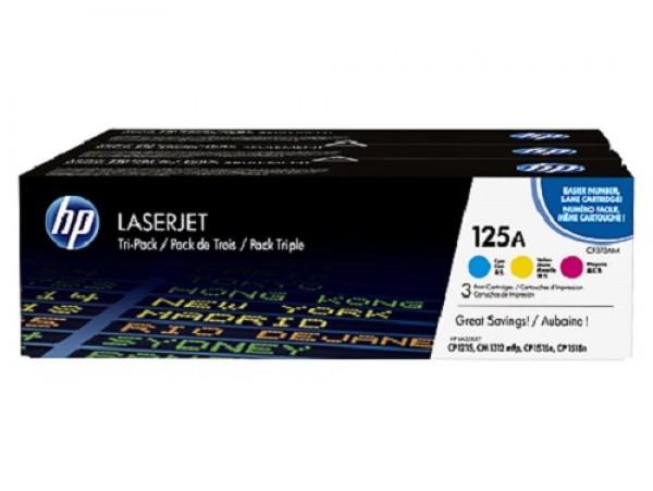 Genuine HP 125A 3-pack Cyan/Magenta/Yellow CF373AM Toner Cartridge CM1312 CP1215