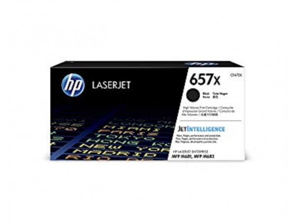 HP High Yield 657X Black CF470X Toner Cartridge Color LaserJet Pro MFP M681 M682