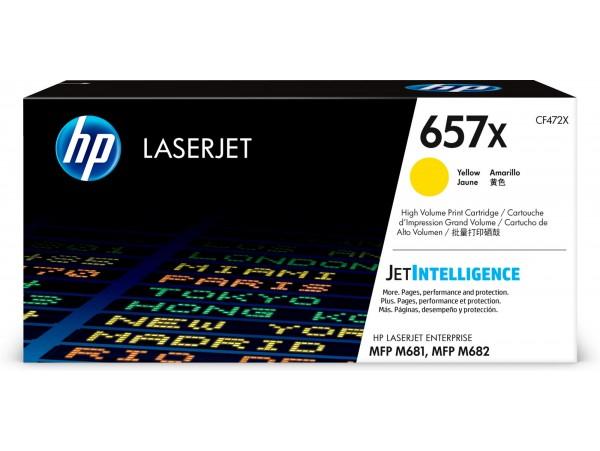 HP HighYield 657X Yellow CF472X Toner Cartridge Color LaserJet Pro MFP M681 M682