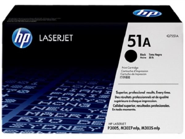 Genuine HP 51A Black Q7551A Toner Cartridge Printer Laserjet M3027 M3035 P3005