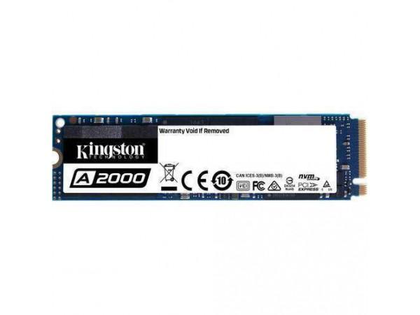 Kingston A2000 SSD 500GB M.2 2280 NVMe PCIe NAND SA2000M8/500G Solid State Drive