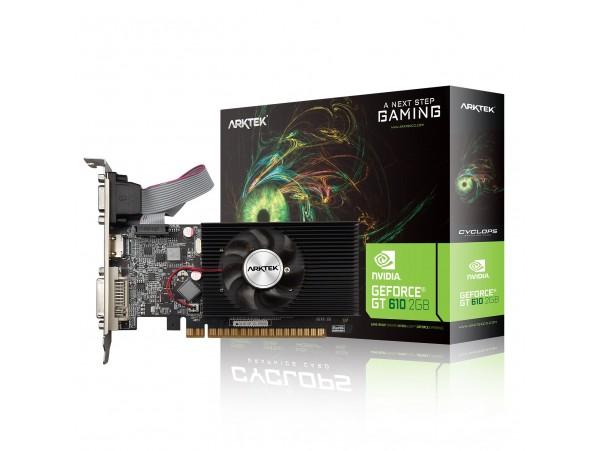 ARKTEK NVIDIA GT610 2GB DDR3 64-bit Low Profile PCI-E Video Card HDMI DVI VGA