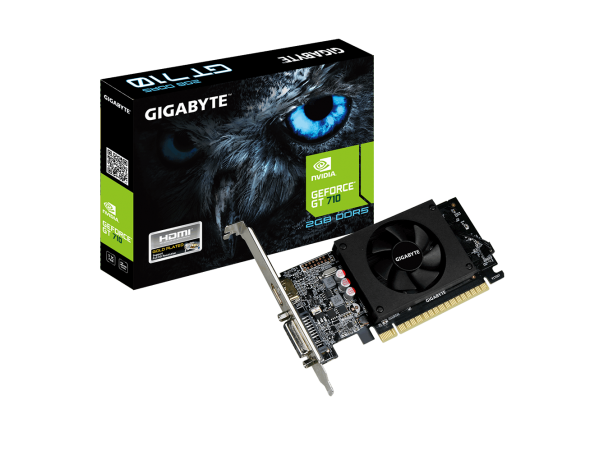 Gigabyte NVIDIA GeForce GT710 2GB DDR5 GV-N710D5-2GL PCI-E Video Card HDMI DVI