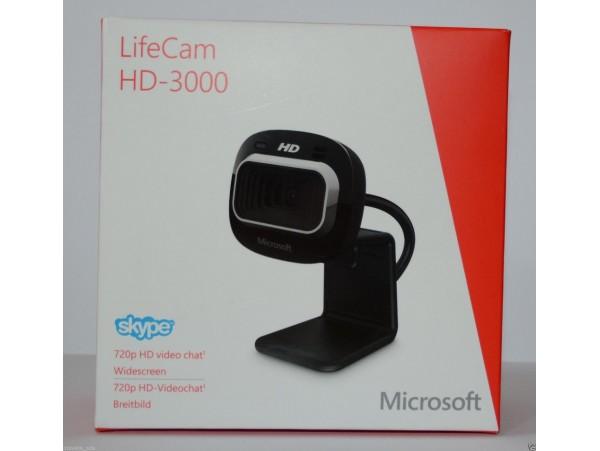 Microsoft LifeCam HD-3000 USB Web Camera HD 720P PC Skype WebCam Mic Video Chat